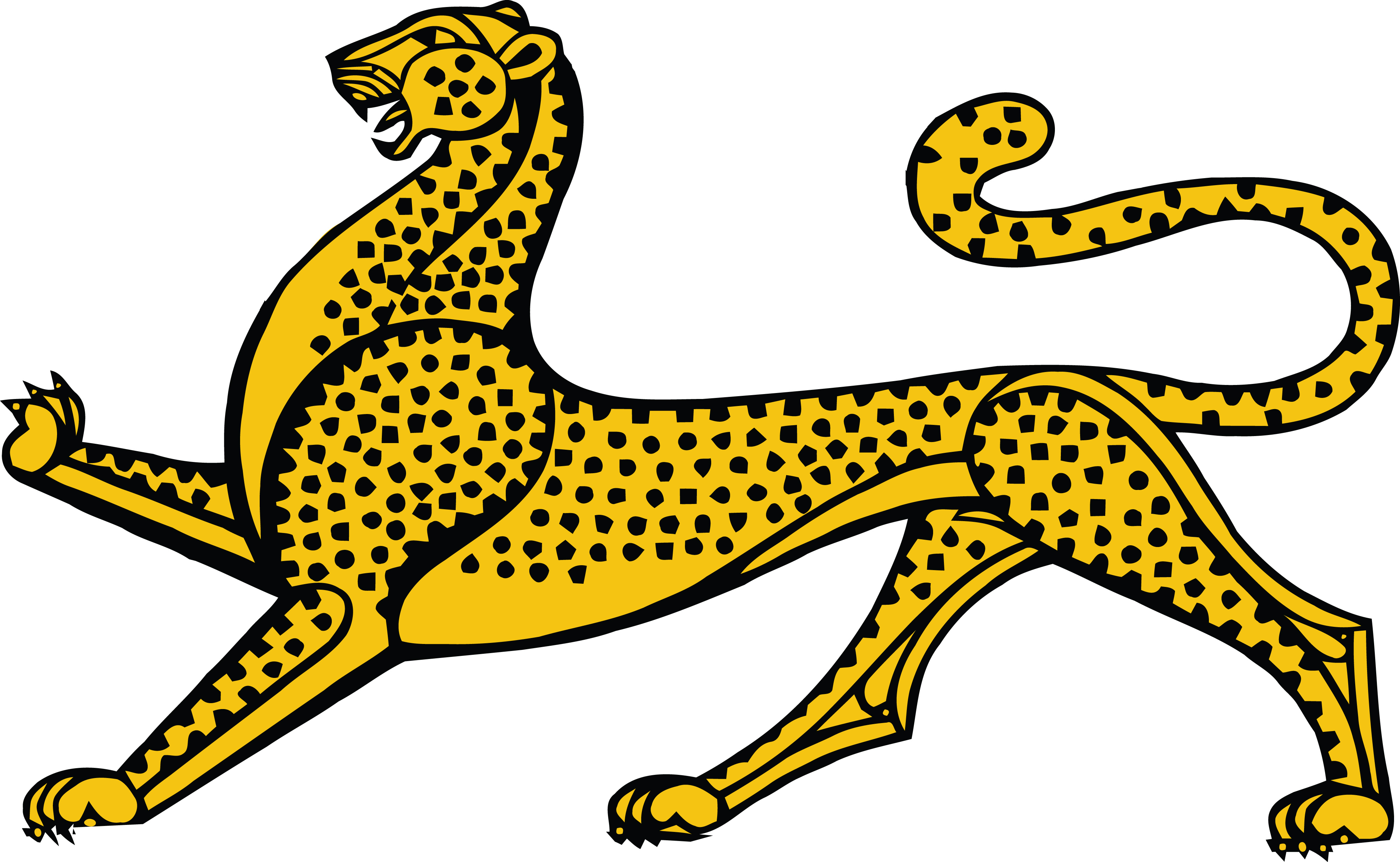 free clipart of a leopard rh free clipartof com leopard clipart outline leopard clipart png