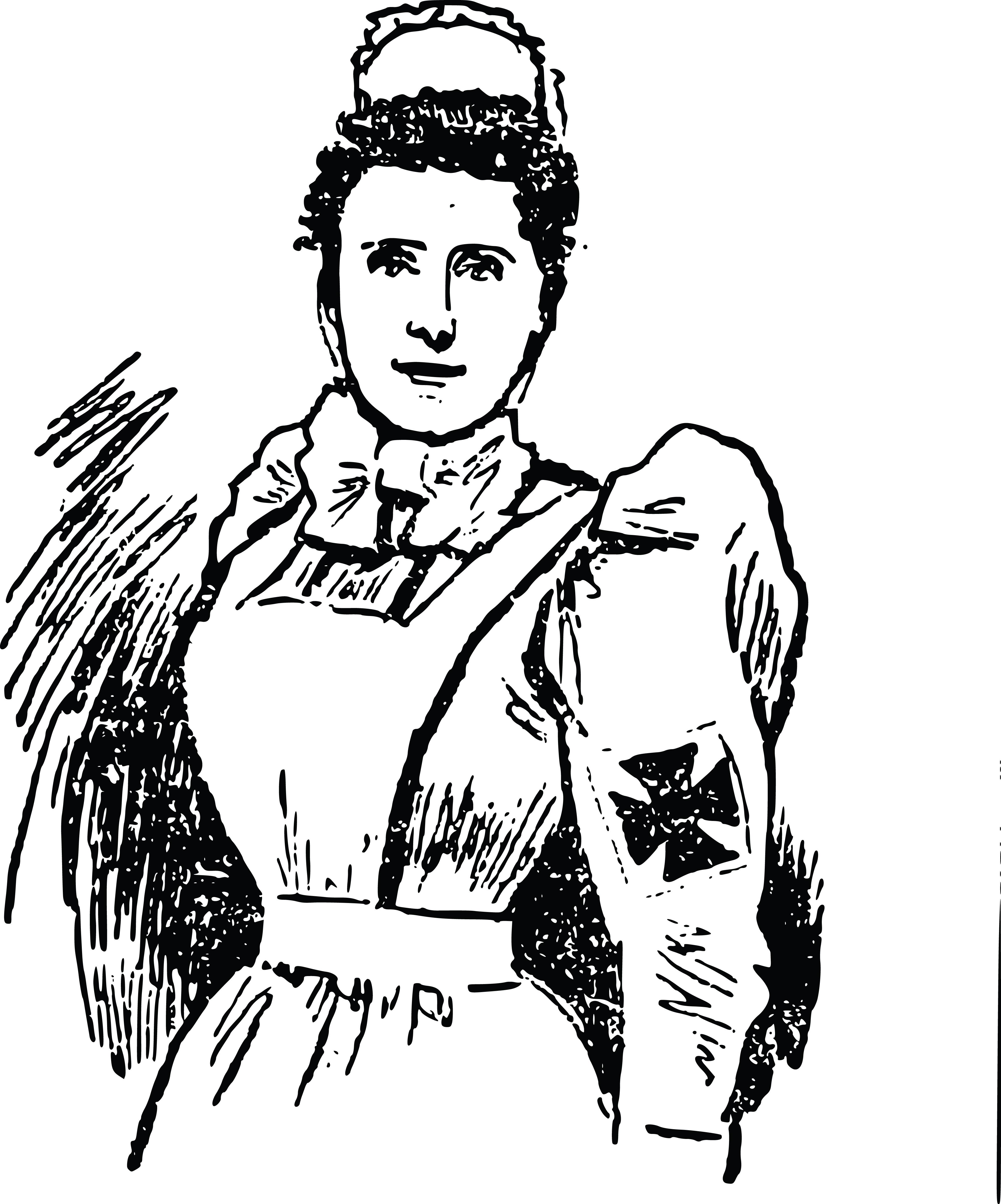 Free Clipart Of A Vintage Nurse