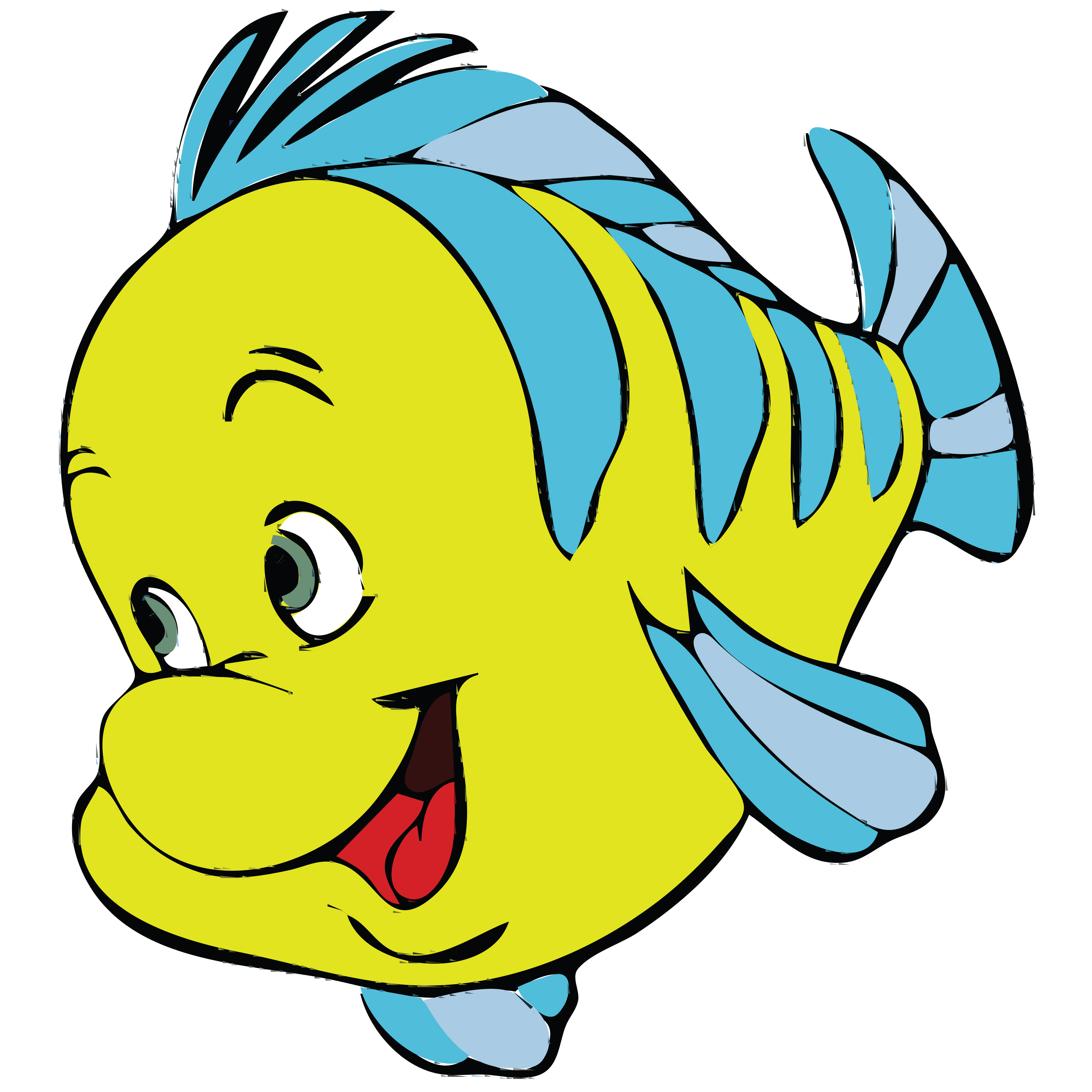 Free clipart of a fish from little mermaid flounder for The little mermaid fish