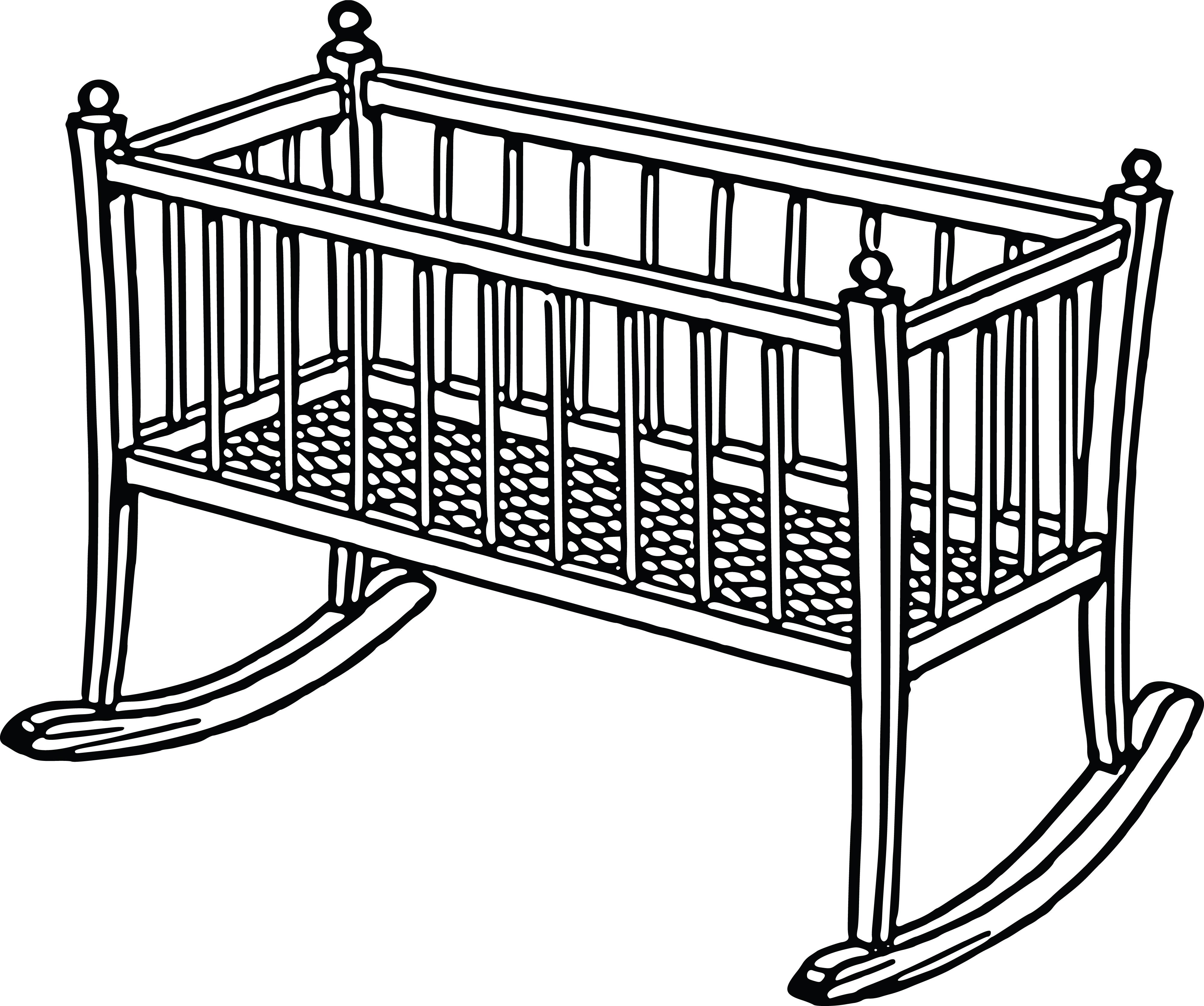free clipart of a baby crib rh free clipartof com