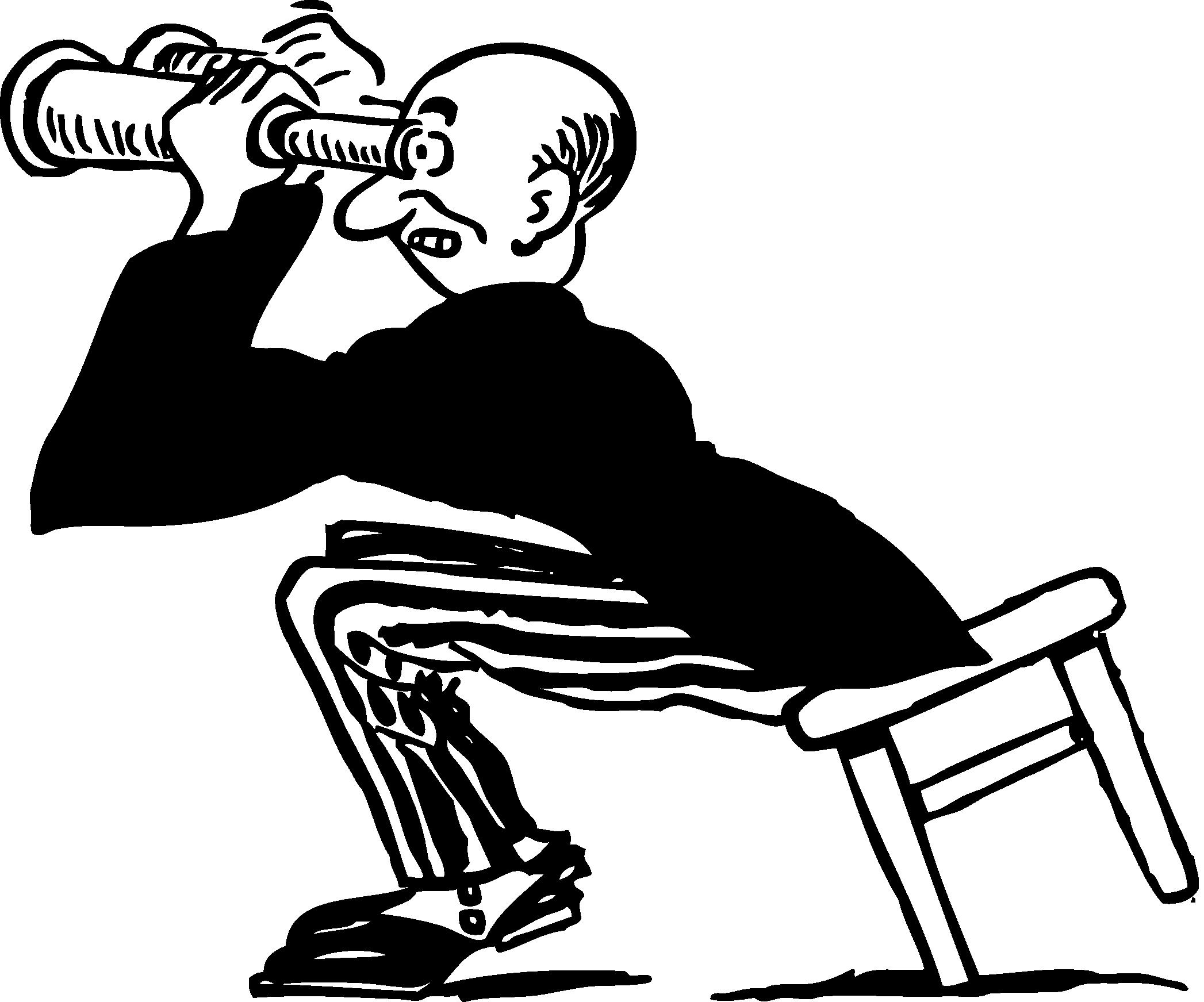 Free Retro Clipart Illustration Of Man Using Binoculars