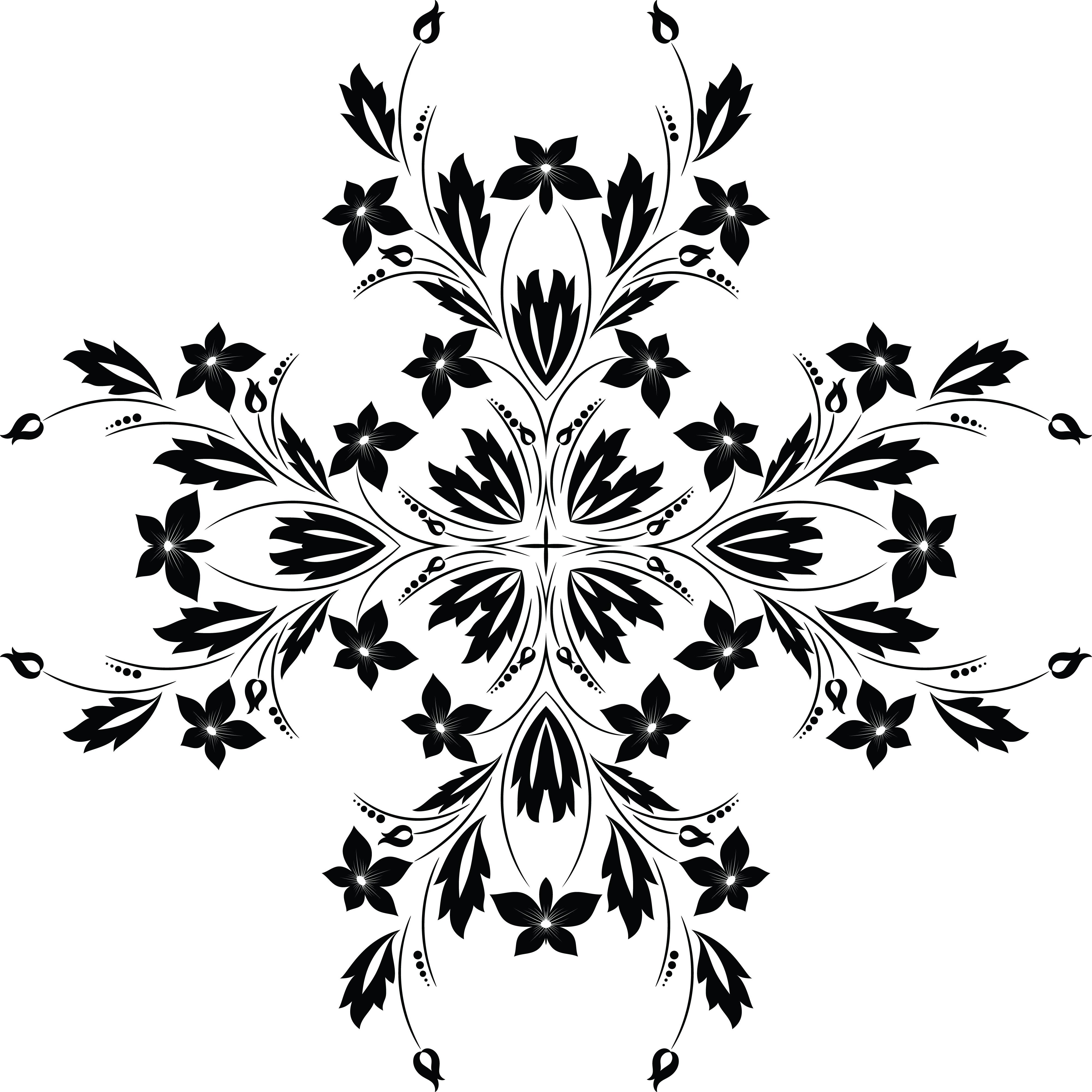 Floral Vine Design Fusmun