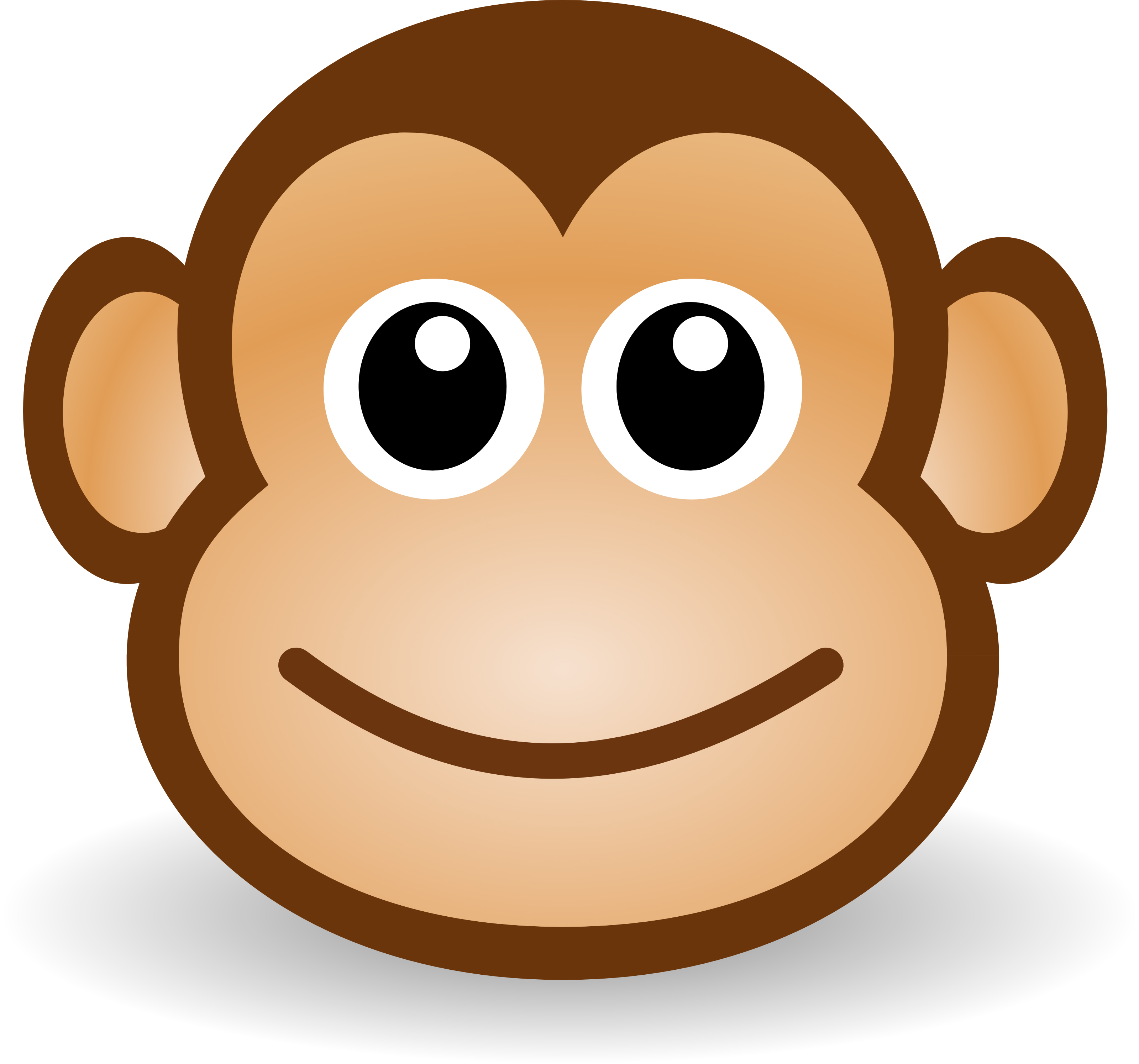 cute cartoon monkey 25 Superb Cute Cartoon Animals