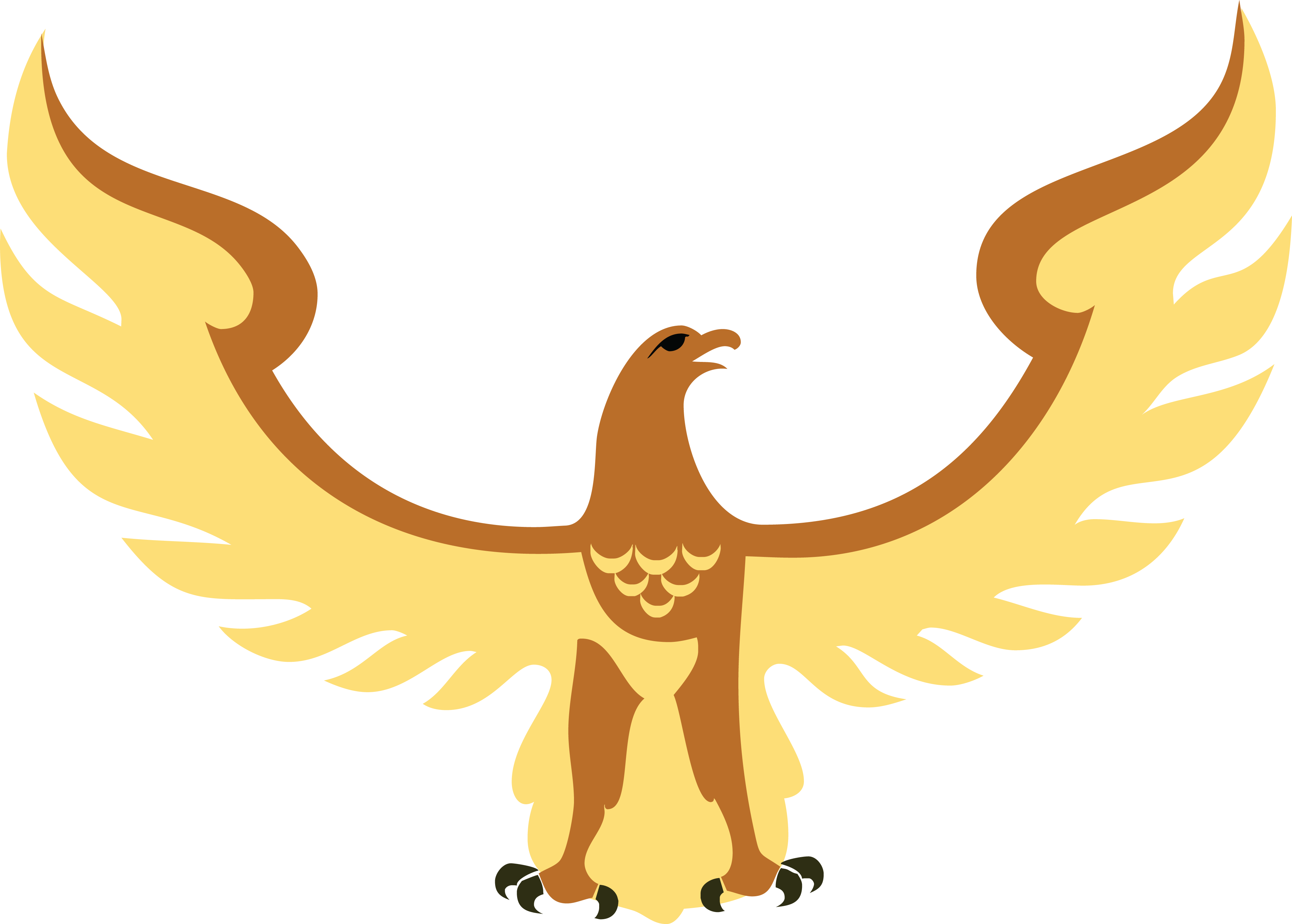 Free Clipart Of A flying hawk