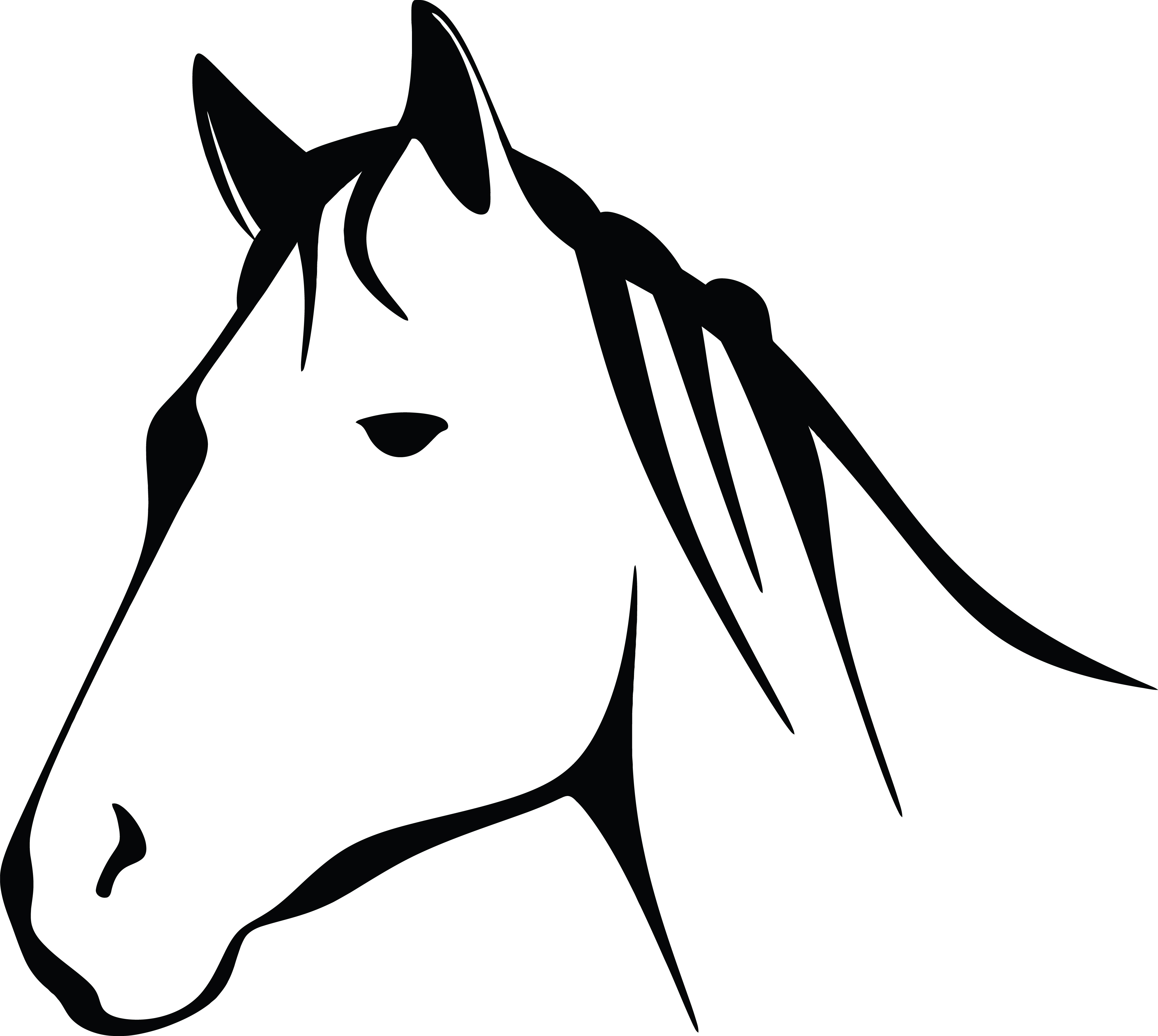 free clipart of a black and white horse head rh free clipartof com house clipart black and white horse clipart black and white free