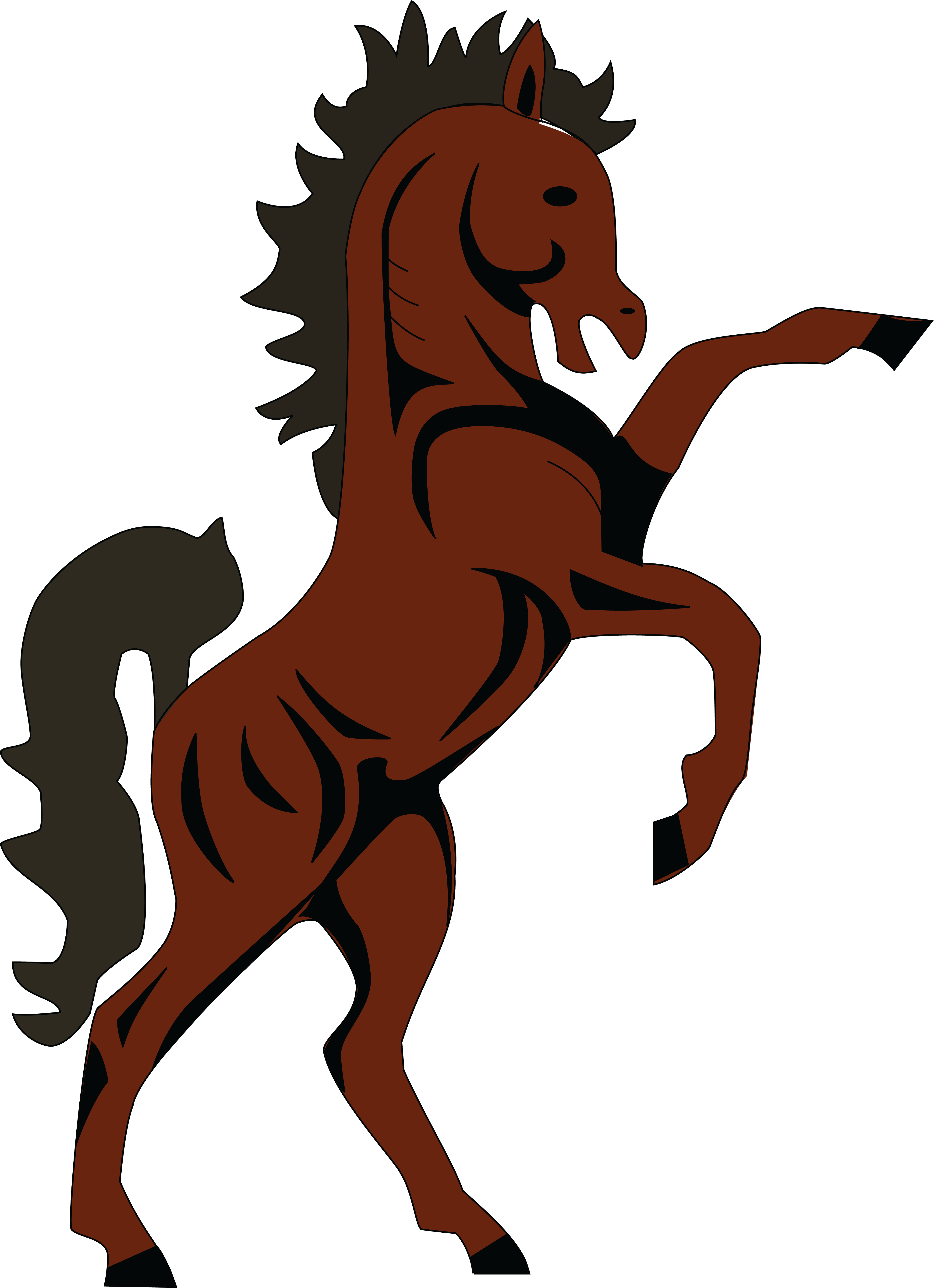 free clipart of a rearing horse rh free clipartof com