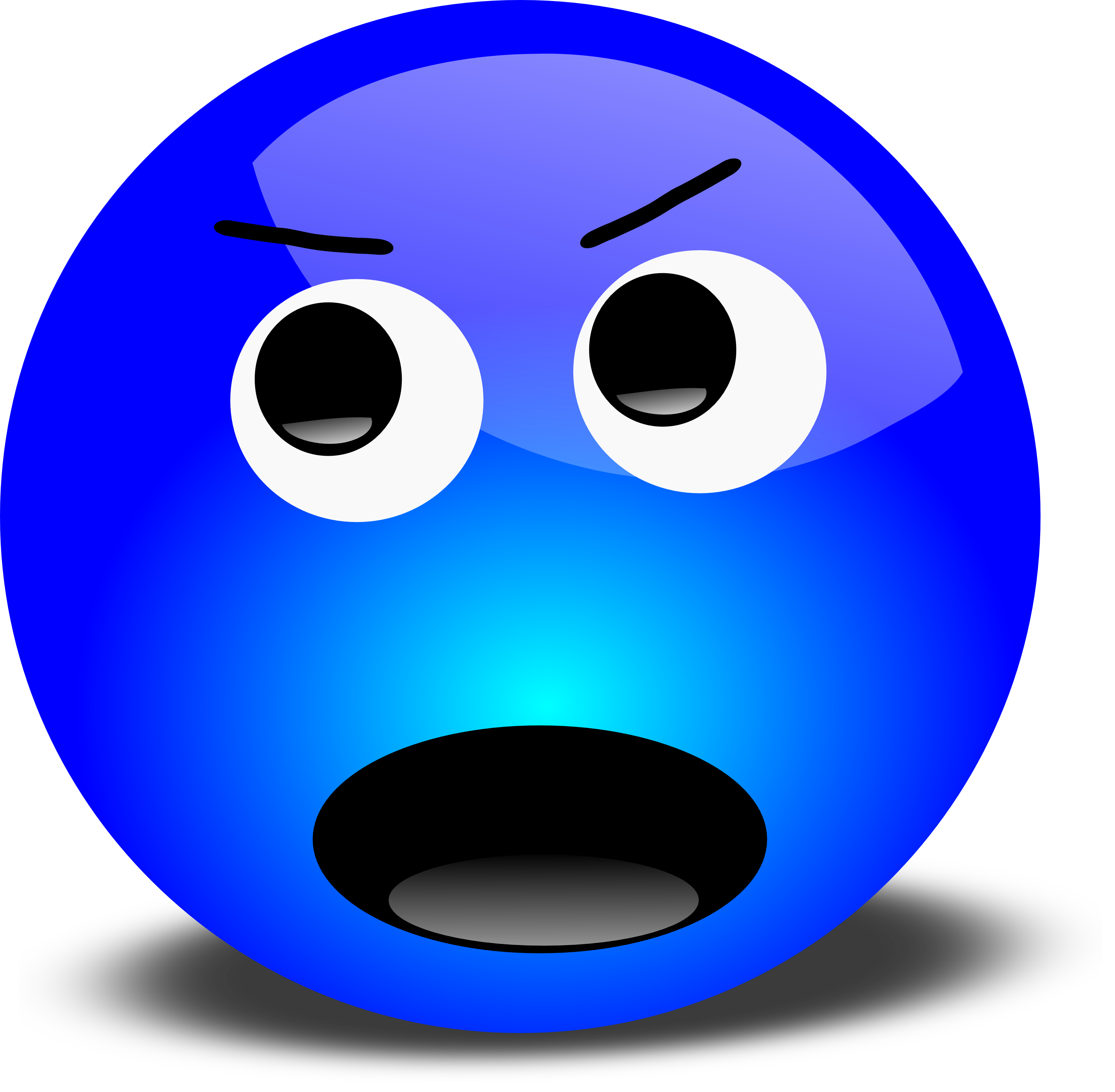 Angry 3D Smiley Shouting - Free Vector Clipart Illustration by 000182 Angry Computer Guy