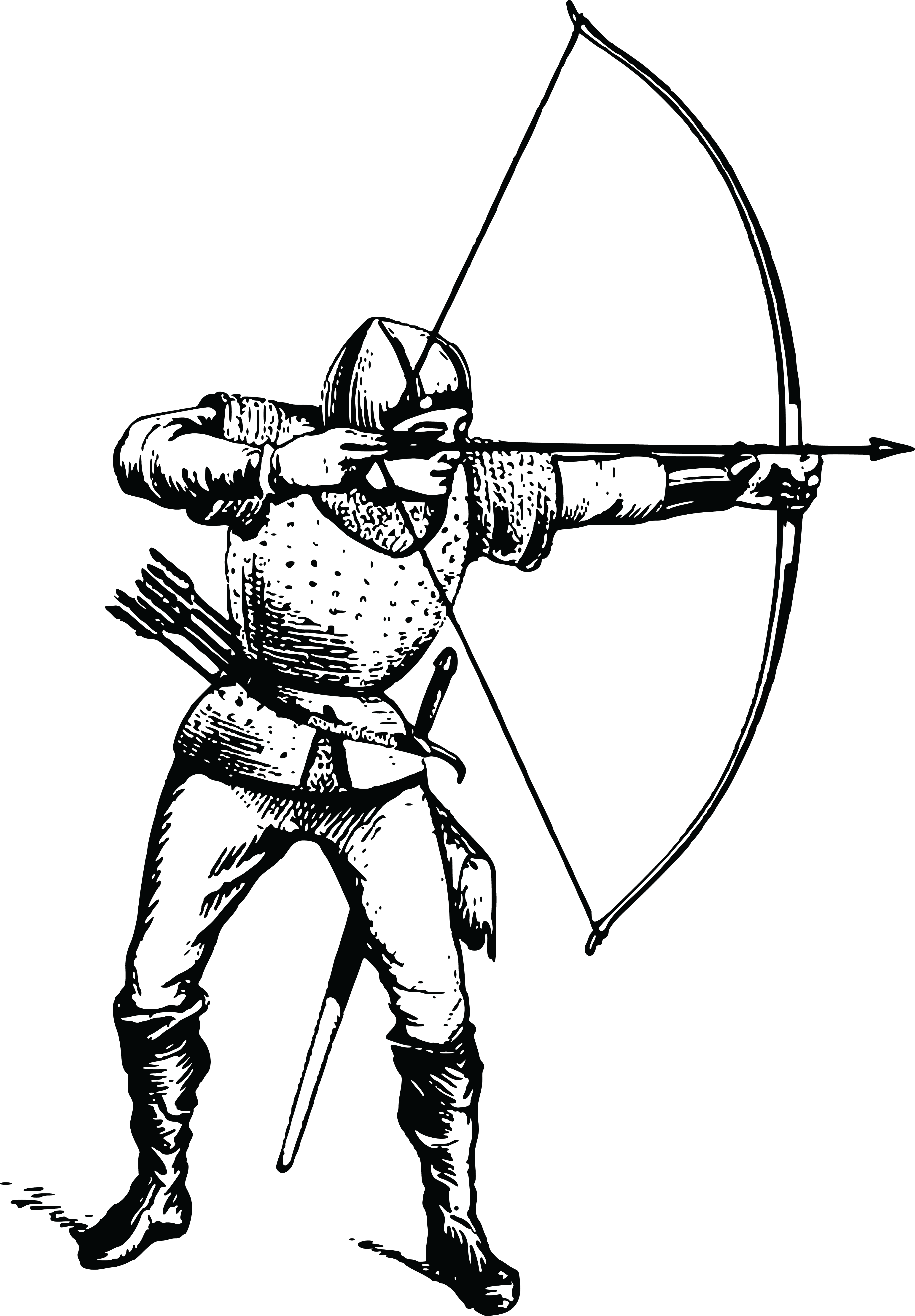 Archery For Ever Coloring Page