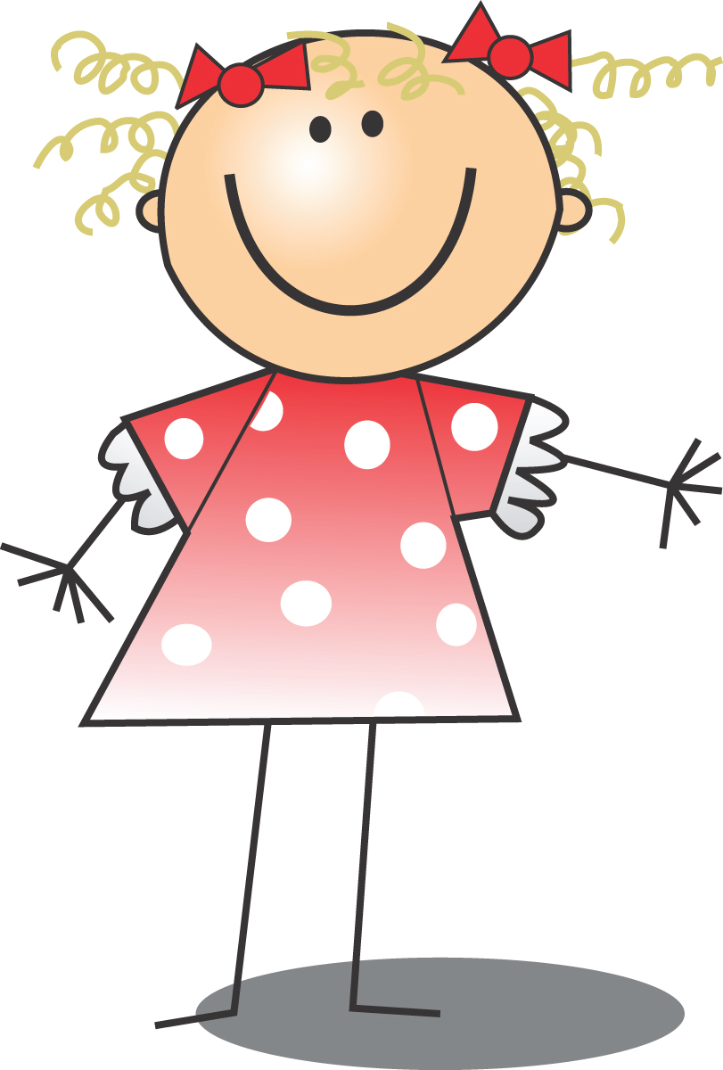 free clip art of a happy blond girl in a pink polka dot dress rh free clipartof com free clipart girl scouts free clipart girl scouts