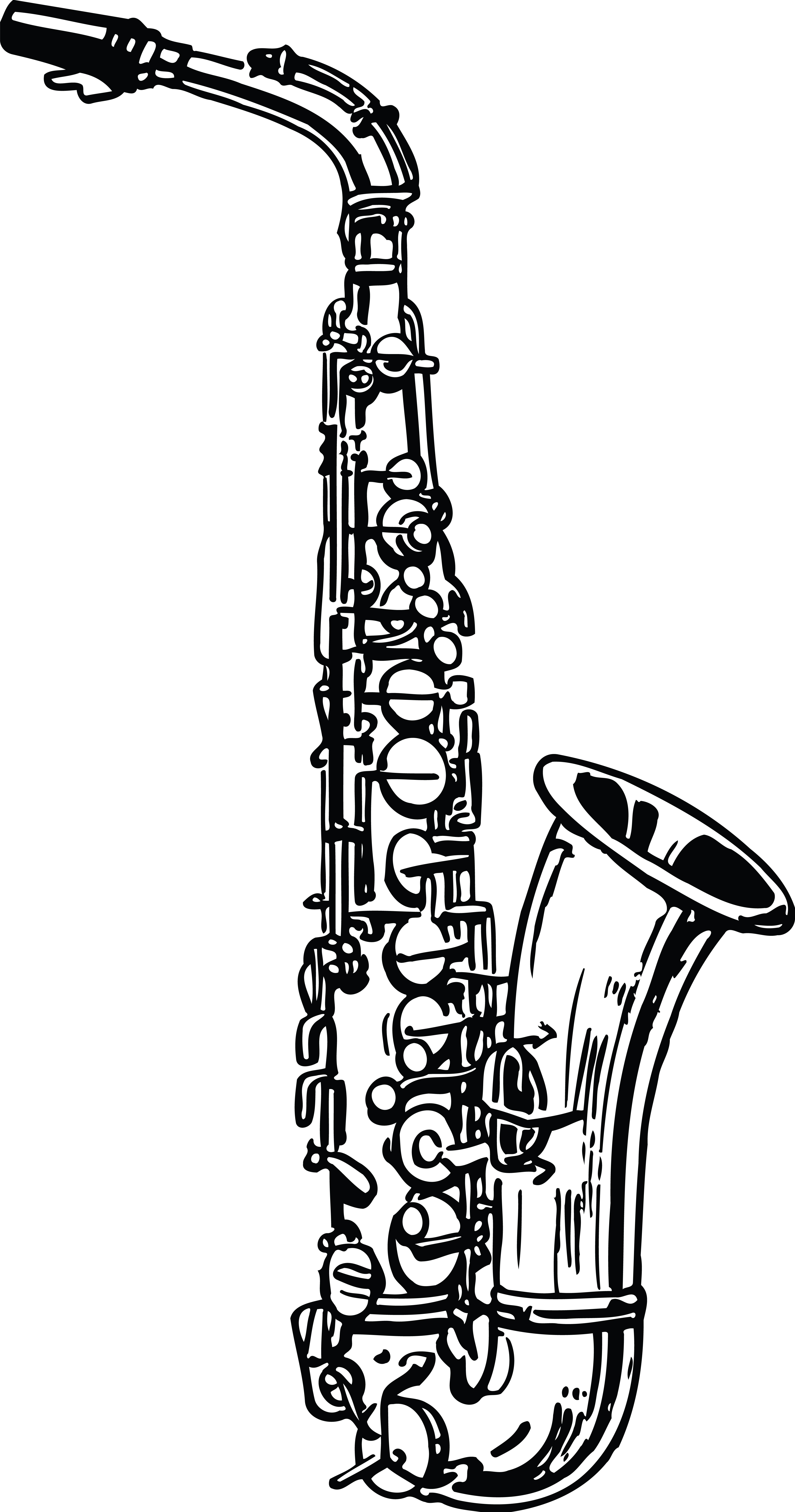 music instruments clipart black and white - photo #25