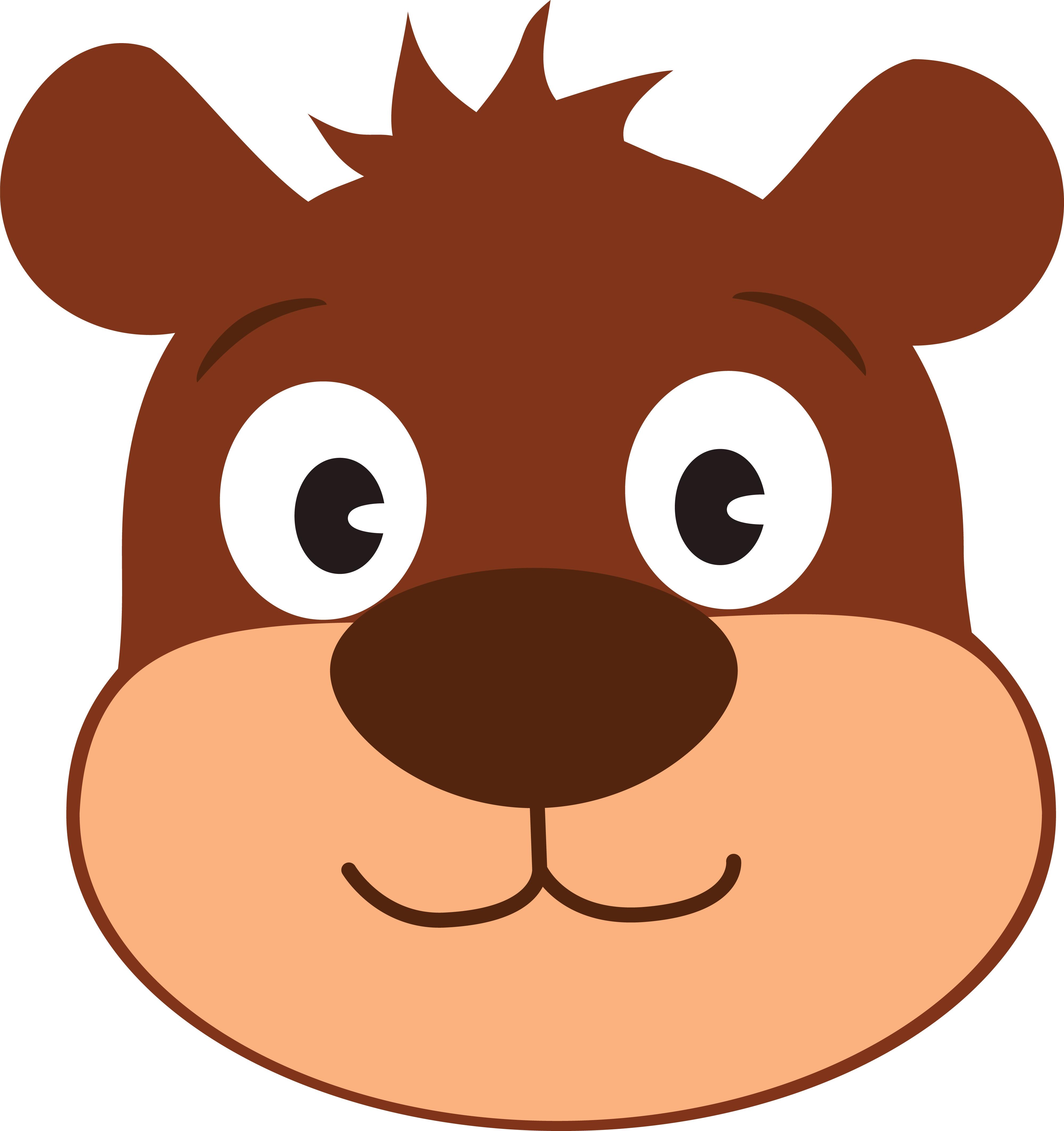 Free Clipart Of A Cute Bear Face