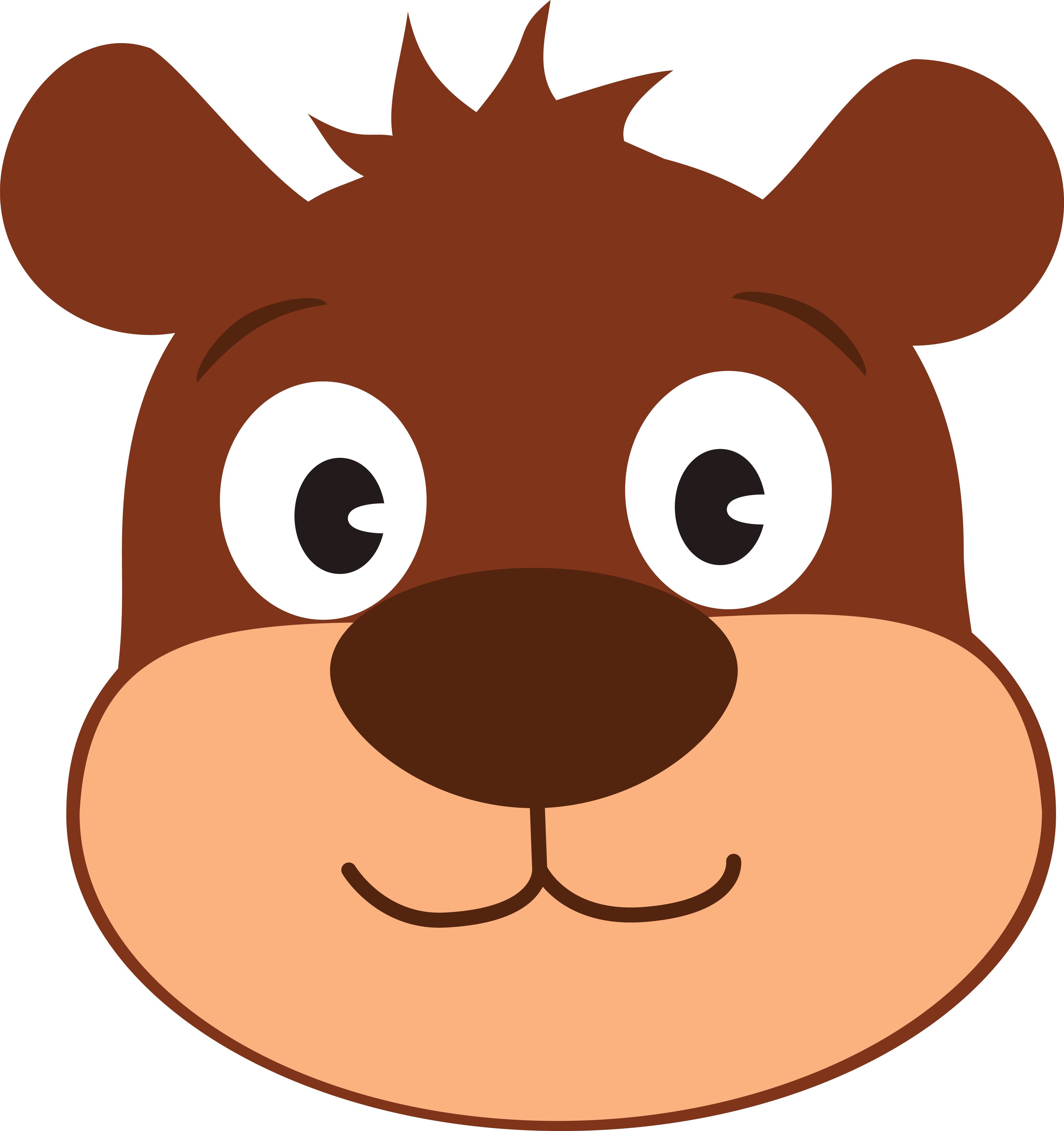 Free clipart of a cute bear face - Clipart visage ...