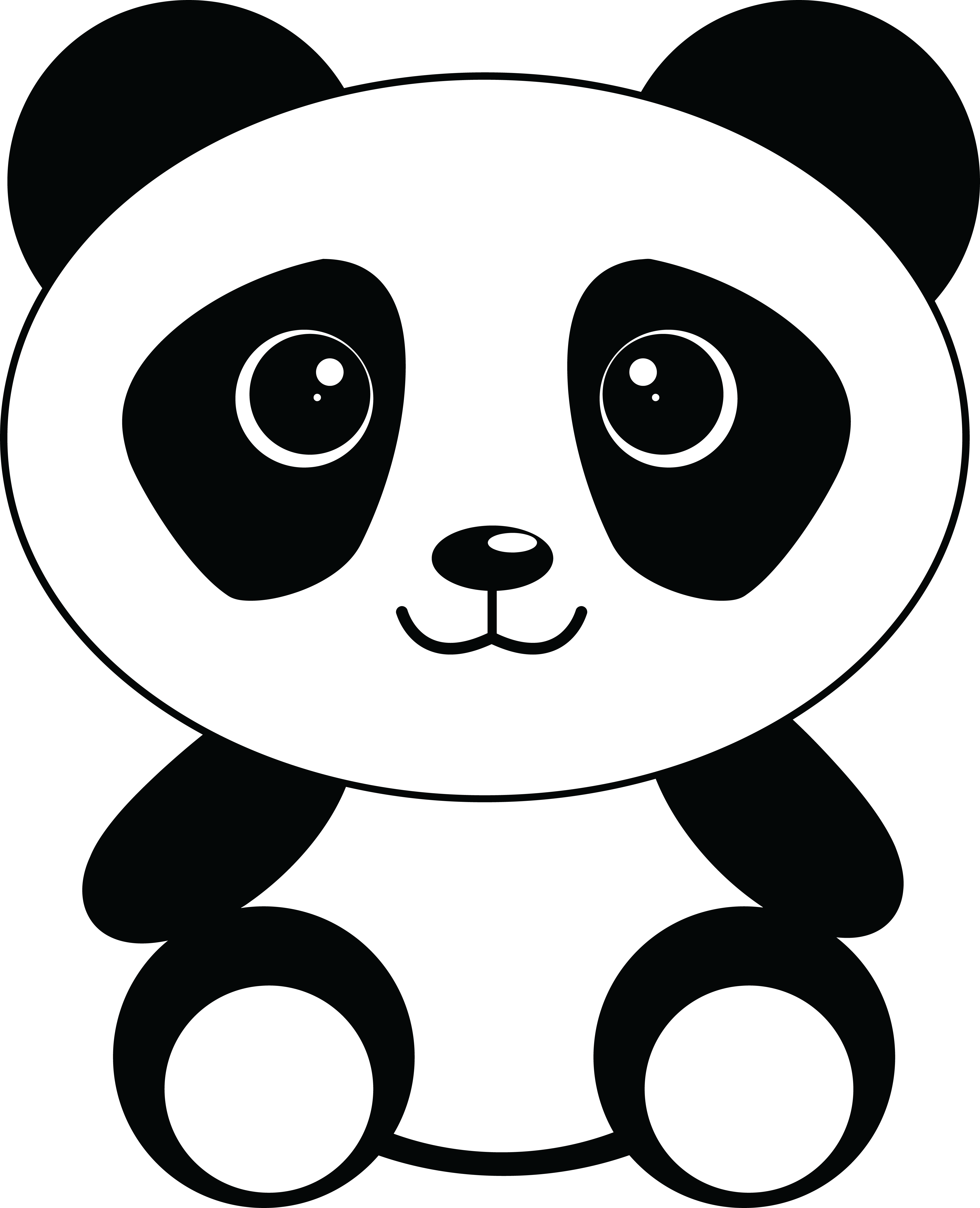 free clipart of a cute sitting panda rh free clipartof com cute panda clipart free cute panda face clipart