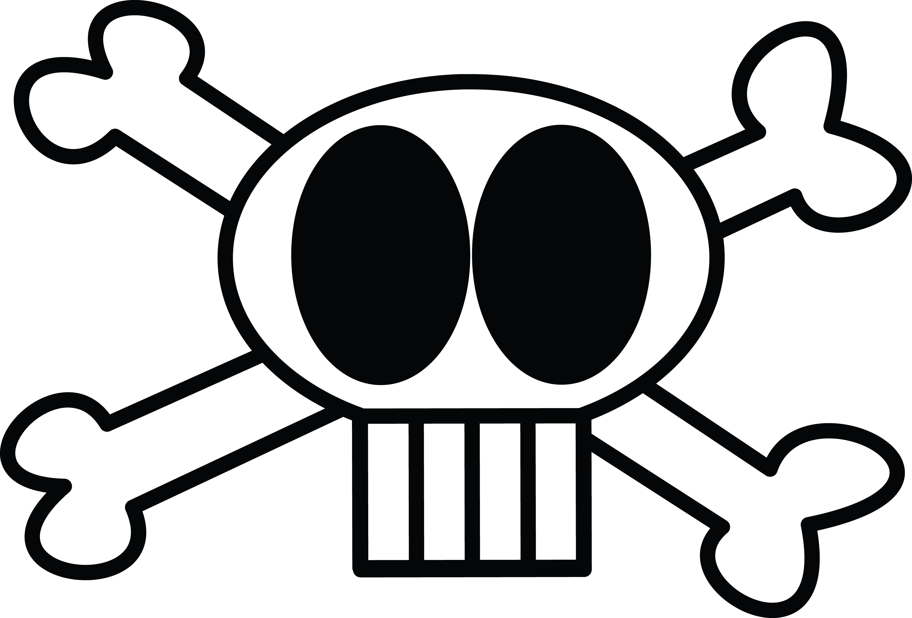Free Clipart Illustration Of Skull And Crossbones by 000197