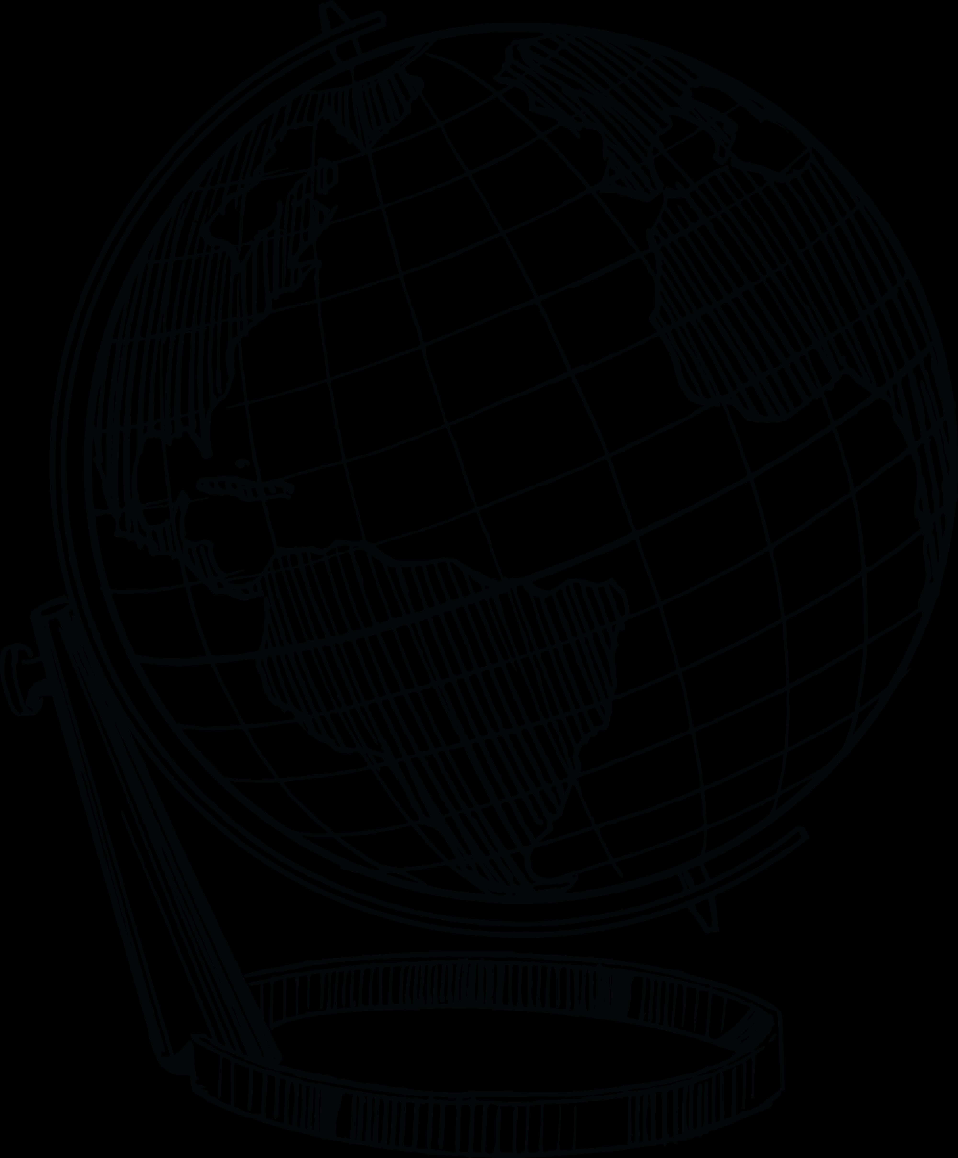 Line Art Globe : Free clipart of a desk globe
